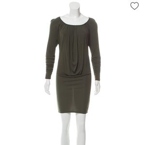 Alice and Olivia long sleeve olive green dress